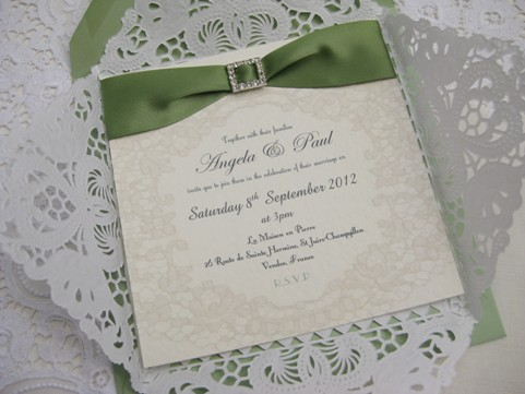 lace wedding stationery