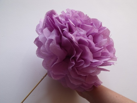 lavender paper wedding flower