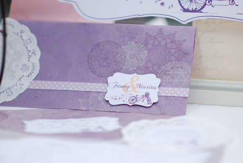 lavender wedding invite