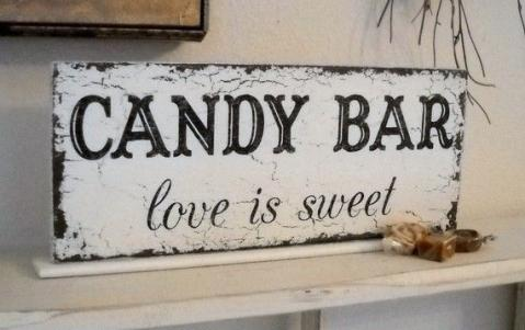love is sweet sign  for a Candy/ Sweet Bar