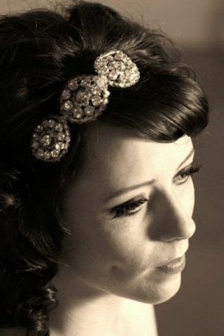 retro bridal headpiece