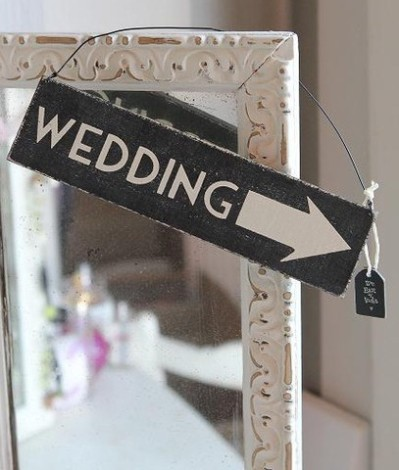 shabby chic wedding sign