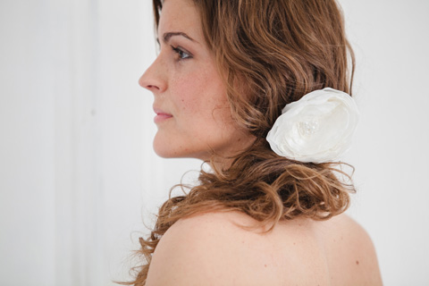 shabby chic bridal hair