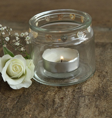 shabby chic heart jam jars