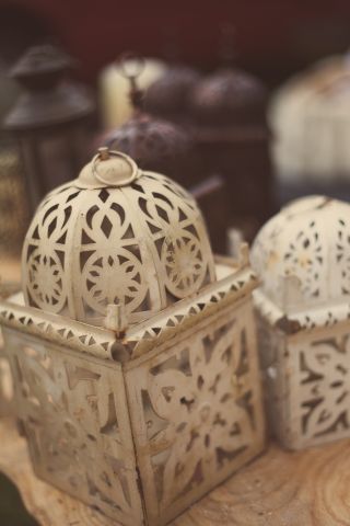 shabby chic lanterns