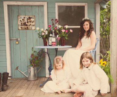 shabby chic wedding outside summer house © - Christy Blanch Photography / French Wedding Style Blog
