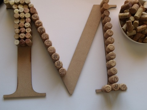shabby chic wedding letters