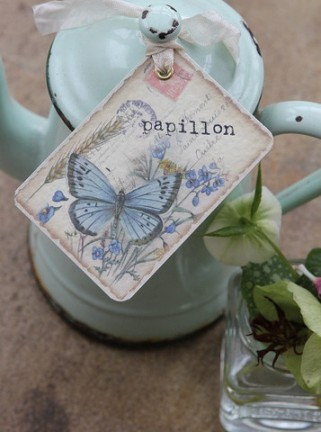 shabby chic wedding tags