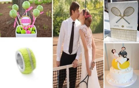 tennis wedding inspiration