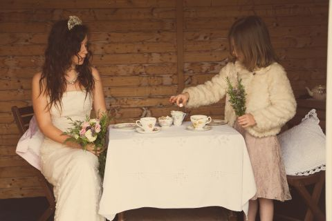 vintage bridal teaparty © - Christy Blanch Photography / French Wedding Style Blog