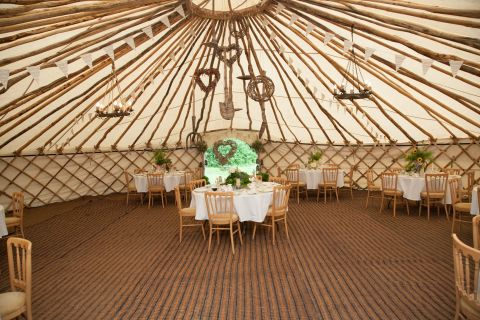 yurt wedding reception
