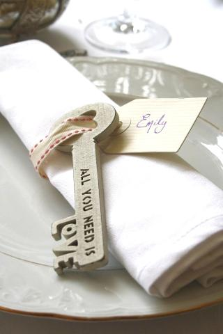 all you need is love place setting