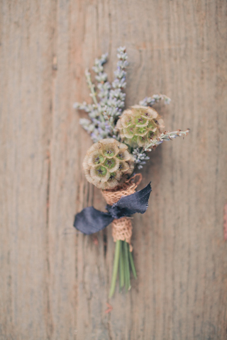 grooms shabby chic buttonhole
