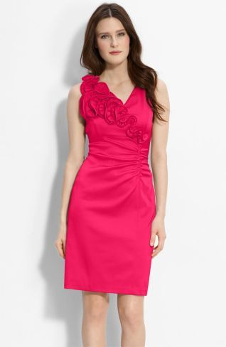pink maid of honour dress