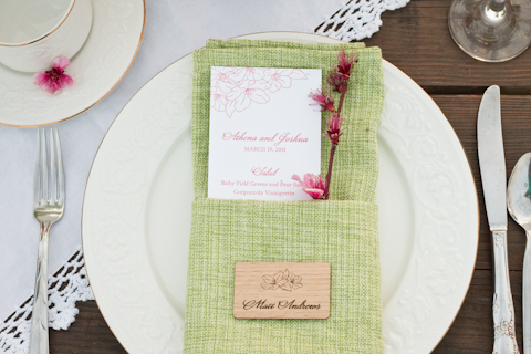 shabby chic wedding setting