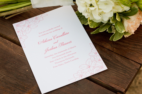 shabby chic wedding stationery