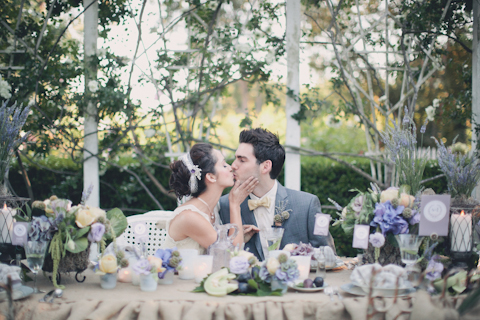 shabby chic wedding shoot