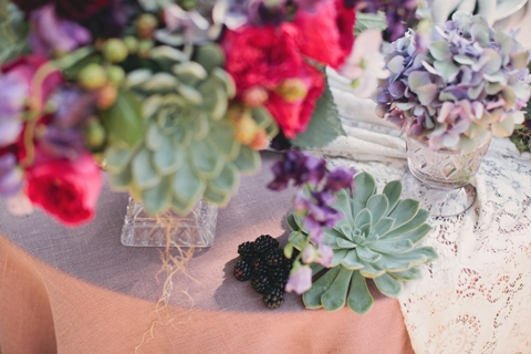 succulent fruit wedding flowers