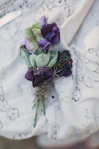 succulent wedding buttonhole