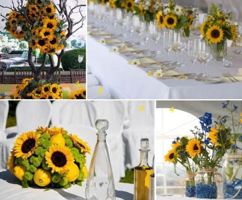 Sunflower wedding inspiration sunflower wedding flowers junglespirit Gallery