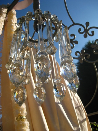 upcycled wedding chandelier