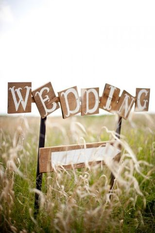 wedding field sign