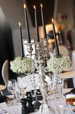 black and silver wedding