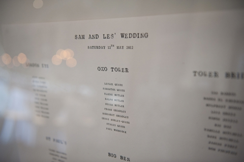 black and white wedding tableplan