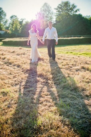 field wedding