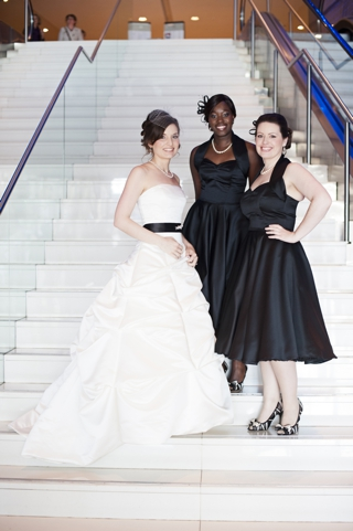 monochrome bridesmaids