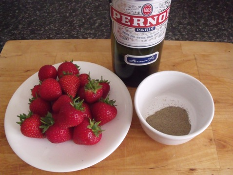 pernod and strawberries