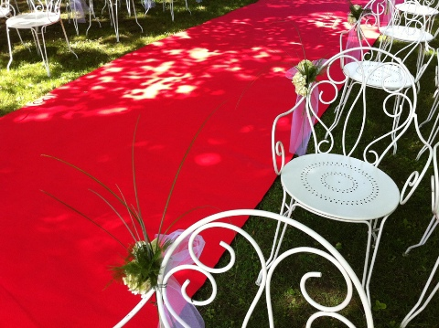 red carpet wedding france