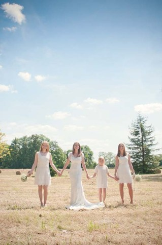 shabby chic bridesmaids