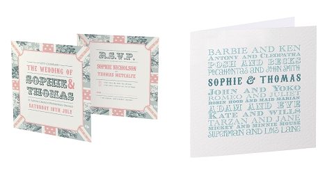 themed wedding stationery