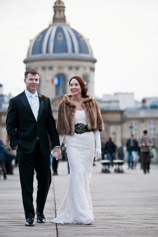 vintage winter wedding paris