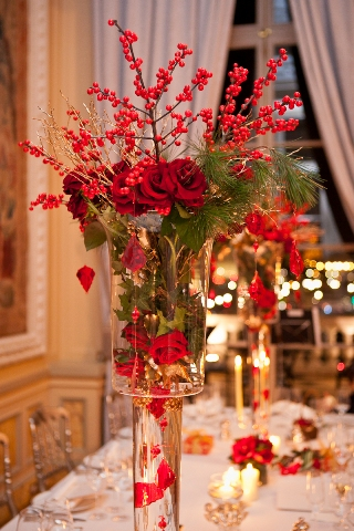 winter wedding centrepieces