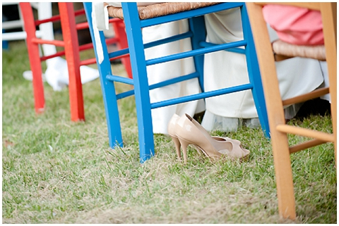 coloured wedding chairs
