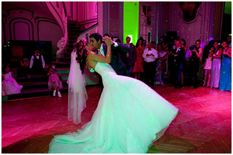 colourful first dance