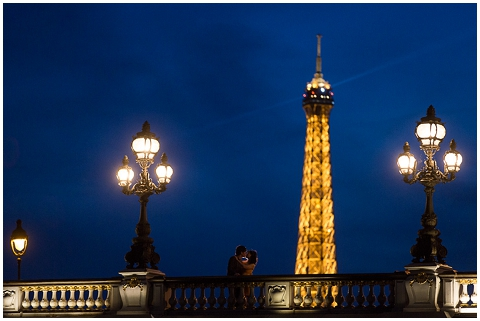 Nighttime Eiffel Tower Pictures on Honeymoon Photos Paris