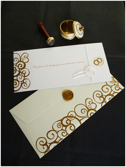 french style wedding invite