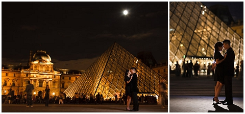 louvre engagement night