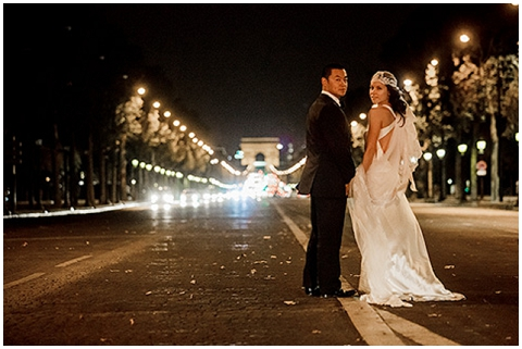 champs elysees wedding