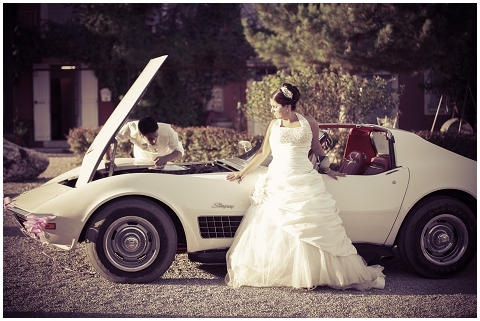 wedding corvette