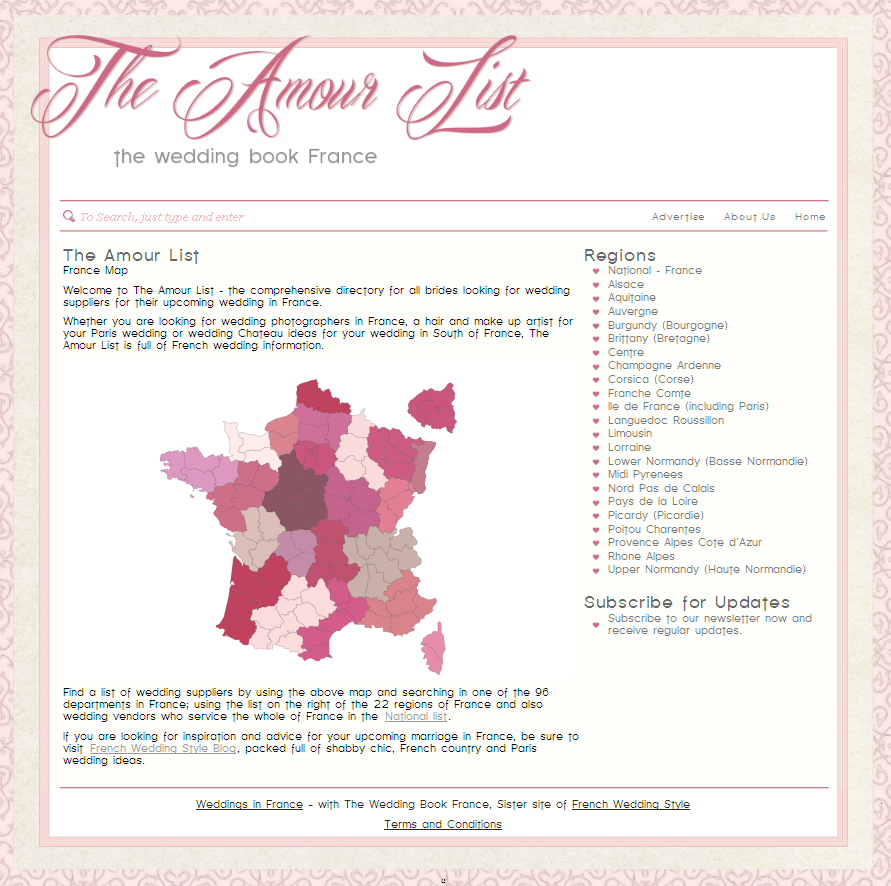 The Amour List - Wedding Book France