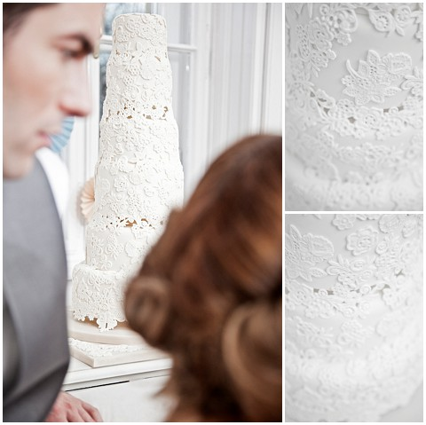 Events with love lace wedding cake