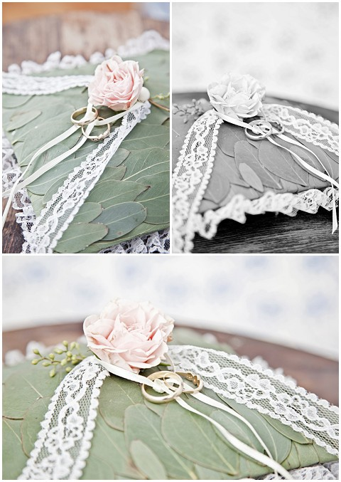 Events with love leaf ring pillow