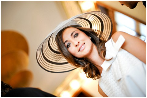 bride in hat