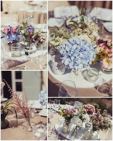lavender and rose rustic wedding flowers