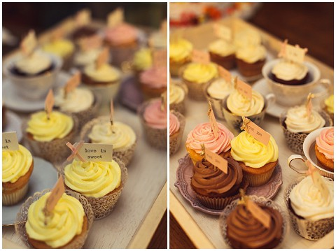 provence wedding cupcakes