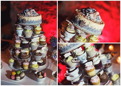provence wedding cupcake tower